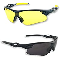 BEST Shooting Glasses UV Blacklight Flashlight Yellow Safety Eye protection by iLumen8. See Dog Cat Urine with Amber Black Lights Night Vision Ultraviolet