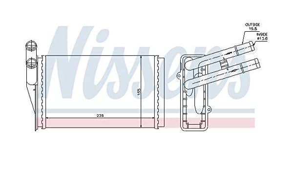 interior calefacción nrf 50524 Intercambiador de calor