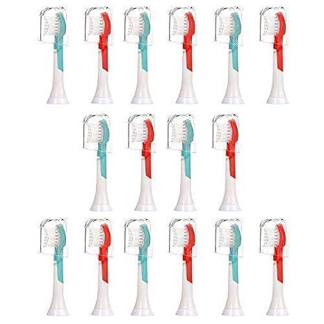 16 piezas (4x4) E-Cron cabezales de cepillo de dientes (tamaño pequeño