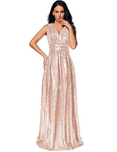 Flapper Girl Women\'s Sequin Bridesmaid Dress Prom Banquet Evening ...