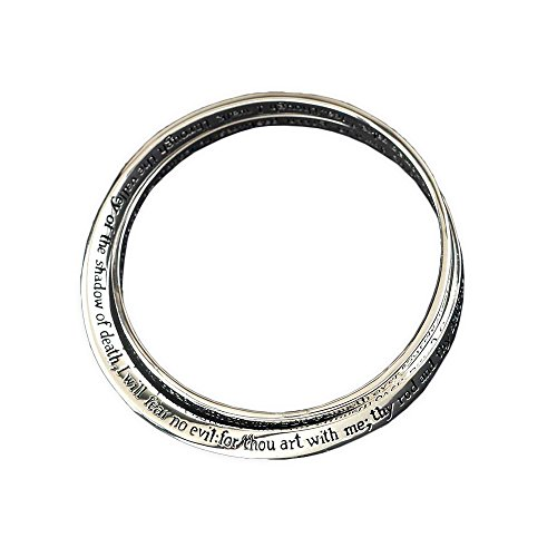 - Dicksons Lord is My Shepherd Psalm 23 Womens Silver Plated Double Mobius Bracelet