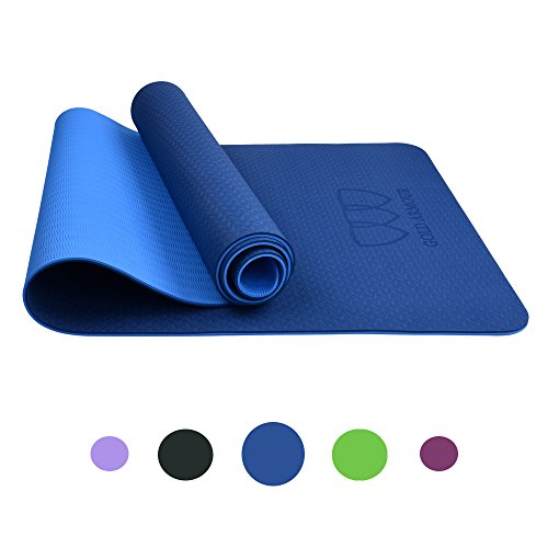 Mens Mat - Gold Armour Non Slip Yoga Mat TPE (Blue)