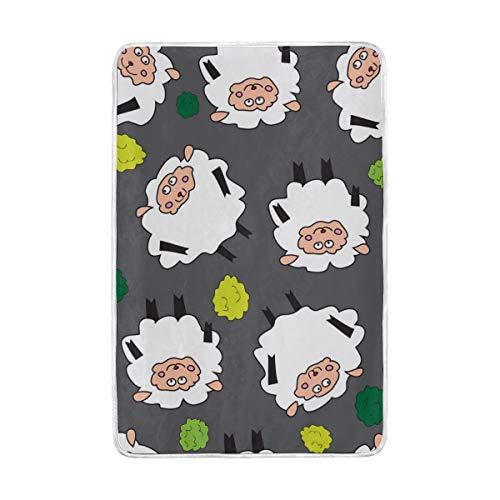 Jonassk Woolffk Valais Blacknose Sheep Plush Soft Blanket All Season Comfort Super Soft Warm Plush Blanket Fuzzy Light Warm Wool Blanket Sofa Bed, 60x90 Inches