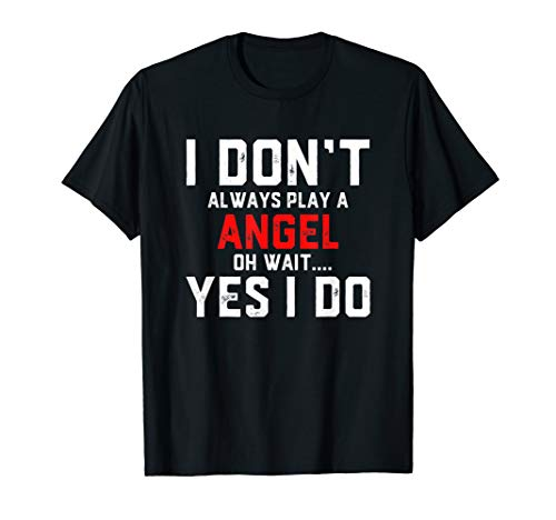 ANGEL Costume Easy Halloween Outfit For Men Women & Kids T-Shirt ()