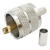 Pack of 5 UHF PL-259 PL259 Male-Plug Crimp Coax
