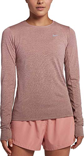 - NIKE Women's Medalist Long Sleeve Running Shirt, Storm Pink/Smokey Mauve, Medium