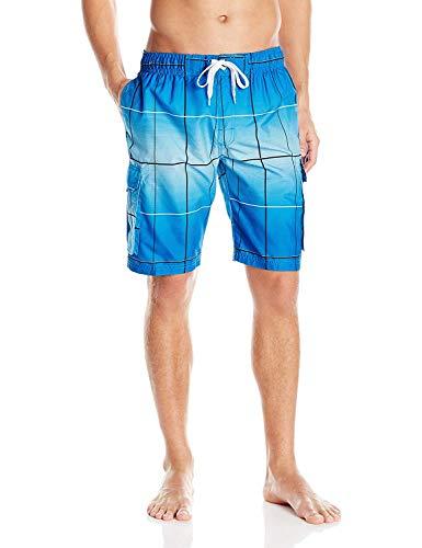 Kanu Surf Men's Legacy Swim Trunks (Regular & Extended Sizes), Vector Royal Blue, 4X
