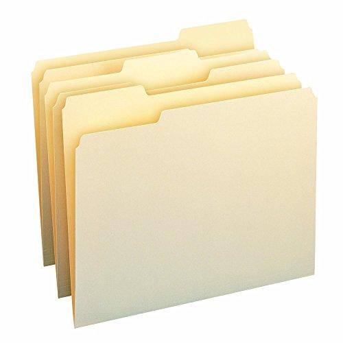 Smead 100% Recycled File Folder, 1/3-Cut Tab, Letter Size, Manila, 100 Per Box (10339) ()