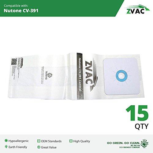 Nutone 391 Central Vacuum Bags - 3