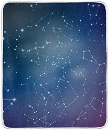 ブランケット 毛布 膝掛け レディース 冷房対策 布団 シングル 子供 オフィス用 掛けふとん 宇宙 星柄 星座 静電気防止 洗える 127×152cm