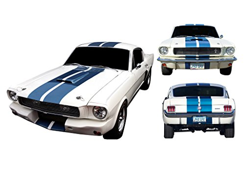 Mustang Lemans Stripe - 1964 1965 1966 1967 1968 Mustang GT Shelby Lemans Rally Stripes Decals Kit - BLACK
