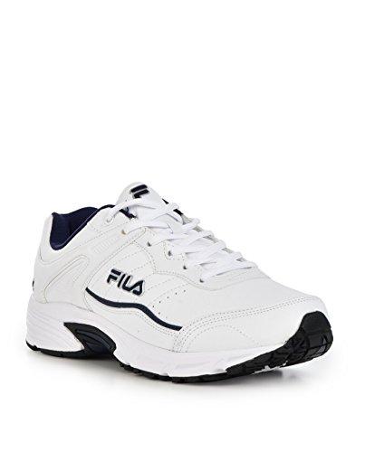Fila Men's Memory Sportland White/Fila Navy/Metallic Silver 9.5 EE US EE - Wide