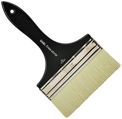 Varnish Brush Flat (Liquitex 1300706 Professional Freestyle Large Scale Brush, Broad Flat/Varnish 6-inch, Short Handle)