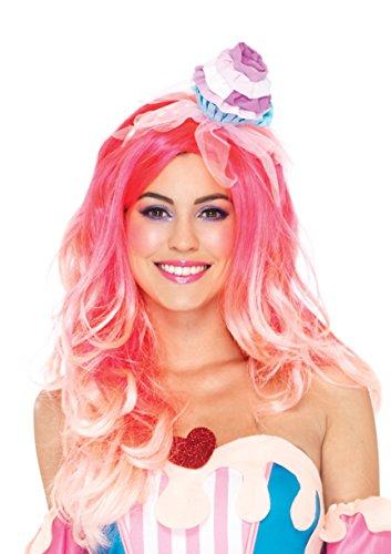 Leg Avenue Women's Cupcake headband Adult Costume, pink, One Sizes Fit Most -