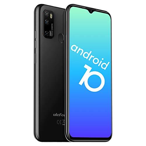Teléfono Móvil Libres 4G, Ulefone Note 9P Android 10 Octa-Core Smartphone Libre, 6.52″ HD+, 4GB RAM + 64GB ROM, Cámara Trasera Triple AI de 16MP, Smartphone Barato Dual SIM+256GB SD, Face ID