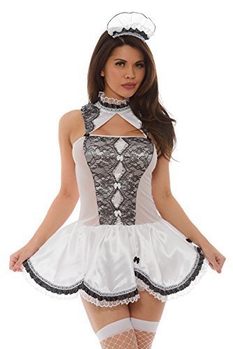 Velvet Maid Costume French - Velvet Kitten Pristinely Clean Maid Dress Role Play Cosplay Bedroom Costume (Extra Large)