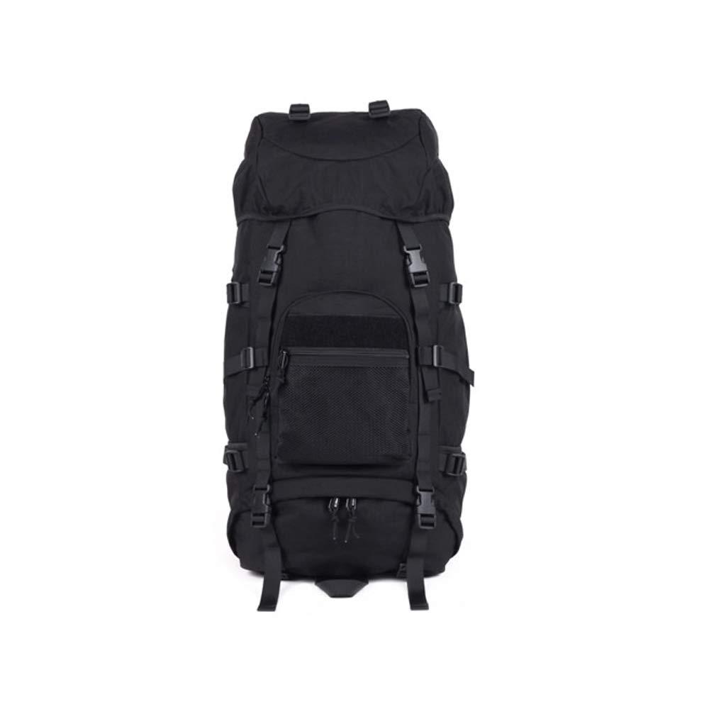 QP Backpack - Waterproof Hiking Backpack/Marching Bag/Unisex Travel Bag (Color : Black)