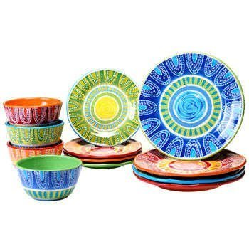 Certified International Tapas 12-piece 100% Ceramic Dinnerware Set  sc 1 st  Amazon.com & Amazon.com | Certified International Tapas 12-piece 100% Ceramic ...