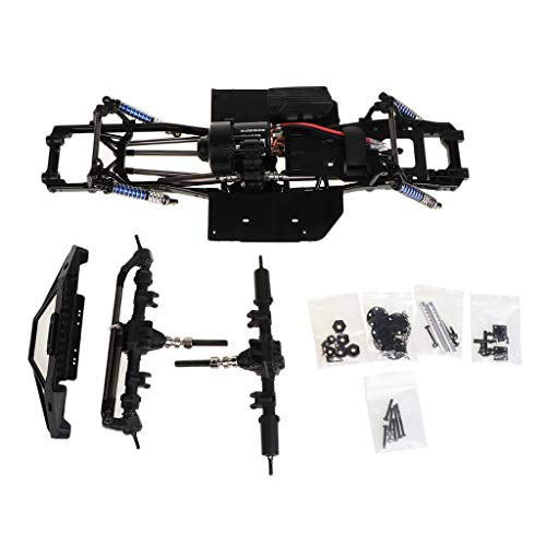 GMSP 313mm 12.3inch Wheelbase Assembled Frame Chassis for 1/10 RC Crawler Car SCX10 SCX10 II 90046 90047