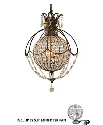 Murray Round Floor Lamp - Feiss F2504/3OBZ/BRB, Bellini Large Round Pendant, 3LT, 180 Watts, Bronze (Includes Mini Desk Fan)