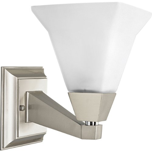 (Progress Lighting P3135-09 1-Light Bath Bracket Fixture, Brushed Nickel)