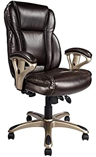 Superb Amazon Com Highland Two Tone Leather Executive Chair Black Pdpeps Interior Chair Design Pdpepsorg