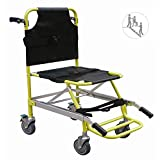 Stair Chair Aluminum Light Weight Ambulance Medical Lift,Paramedic Patient Transport 4 Wheels Evacuation Chair,Load Capacity: 400 Lbs