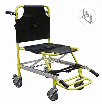 Silla de escalera aluminio peso ligero ambulancia médico elevación, transporte de paciente paramédico 4 ruedas