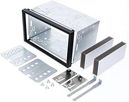 Mascherina autoradio Doppio 2 DIN per Mercedes Classe C W203 CLK W209 Viano Vito con Telaio in Metallo Audioproject A299 ISO DIN