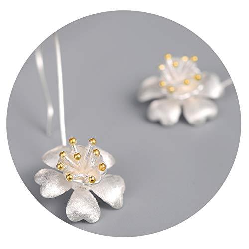 Ashley-OU 925 silver ear dangle drop earrings for women B