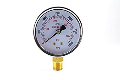 High Pressure Gauge for Propane Regulator 0-400 psi - 2.5 inches