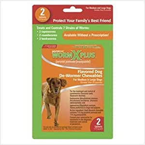 Sentry HC WormX Plus Dog Dewormer (Round/Hook/Tapeworm), Large Dog, 2-Count by Sentry