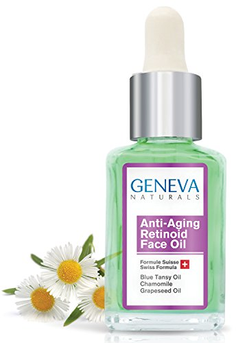 (Retinoid Sleeping Night Oil - Natural Swiss Anti-Aging Formula with Blue Tansy Oil, Chamomile, and Grapeseed Oil for Men & Women - 1oz)
