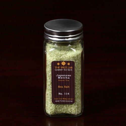 Glass Spice Bottle - Gourmet Japanese Matcha (Green Tea) Sea Salt - (Japanese Sea Salt)