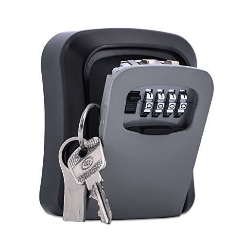 Combination Key Lock Box - Key Storage Box - More Convenient Wall Mount Key Safe Box with Set Your Own Combination Lock