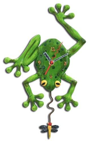 Allen Designs Frog Fly Pendulum Clock (Frog Clock)