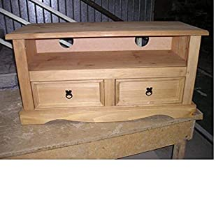 Mercers Furniture Corona 2-Drawer Flat Screen TV Unit – Pine – Great TV cabinet