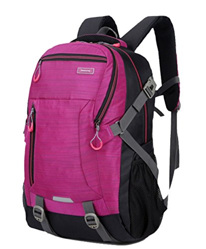 Bulage Bolsas Escuela Ordenadores Hombres Hombro De Alta Capacidad Al Aire Libre Montañismo Ocio Deportes Viajes Mochila Simple Bolsas Pink