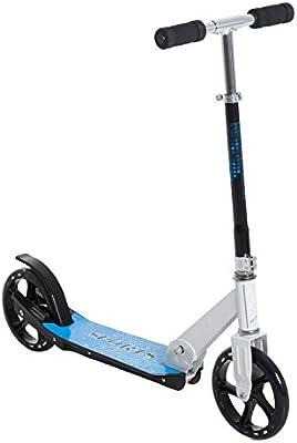 Homcom Patinete para Niños y Adultos Scooter Plegable Plegable Manillar Ajustable Marco Aluminio Ligero y Estable Carga 100kg Aluminio 68x34x60-73.5cm ...