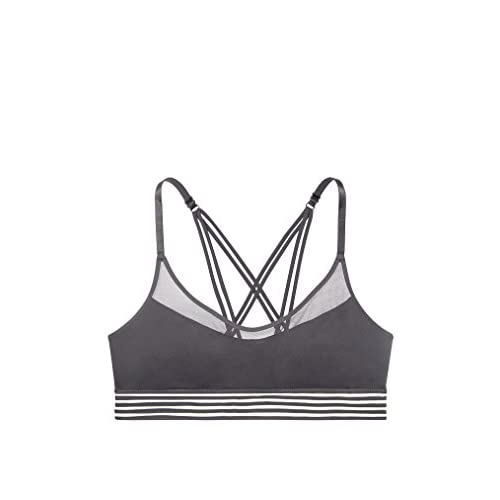 606f7f2136 Victoria s Secret Pink Ultimate Unlined Sheer Stripe Sports Bra Metropolis