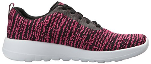 Go Skechers Joy Black Donna Rapture Walk Hot Sneaker Pink dZWrqZn