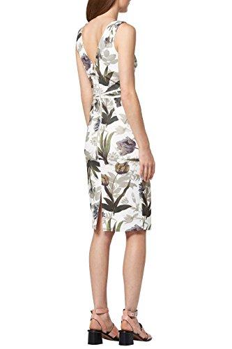 next Mujer Vestido Ajustado Estampado Corte Regular Crema Floral