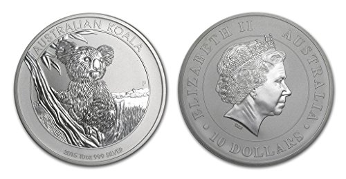 2015 AU Australian Koala One Ounce Silver Coin .999 Fine Silver Dollar Uncirculated Mint