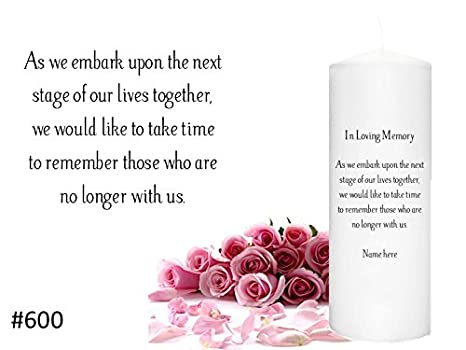 Amazon.com : In Memorial Candle for weddings Memory Candle to honor ...