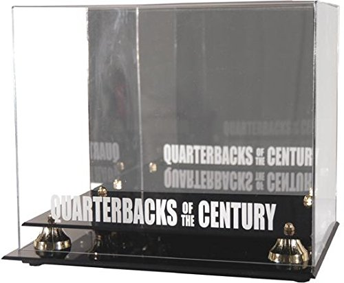 Sports Memorabilia Quarterbacks of The Century Golden Classic Helmet Display Case - Football Helmet Logo Display Cases