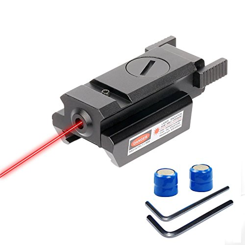OTW Red Dot Gun Sight Laser Picatinny 20mm Standard Weaver Rail Mount for Pistol Handgun Gun Rifle