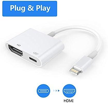 Adaptador HDMI para teléfono, Adaptador AV Digital 1080P, Cable de ...