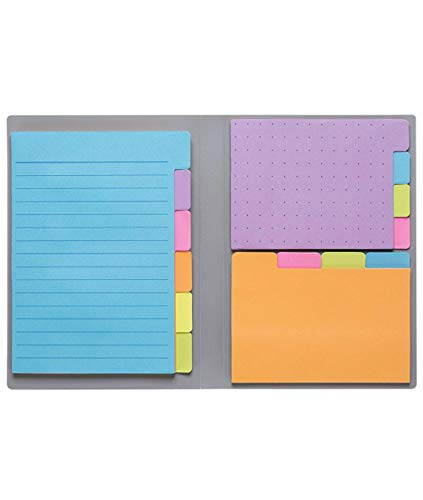 """Sticky Notes by Panda Planner - Bookmark, Prioritize and Set Goals with Color Coding - 60 Ruled Lined Notes (4x6""""), 40 Dotted Notes (3x4""""), 40 Blank Notes (2.7x4.2"""") - 140 Total Tab Divider Notes"""
