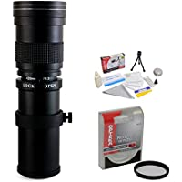 Opteka 420-800mm f/8.3 HD Telephoto Zoom Lens with UV Filter for Sony Alpha A99, A77, A65, A58, A57, A55, A37, A35, A33, A900, A700, A580, A560, A550, A390, A380, A330 and A290 Digital SLR Cameras