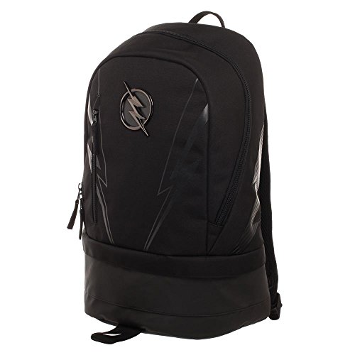 DC ZOOM Backpack - Black Polyester Backpack with Bottom Compartment -